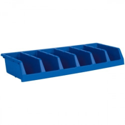 BIN STORAGE 5 UNIT BLUE