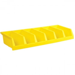 BIN STORAGE 5 UNIT YELLOW