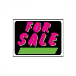 SIGN FOR SALE FLUORESCENT