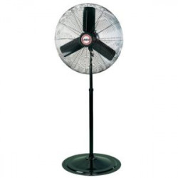 FAN BLACK OSC. PED. 30""