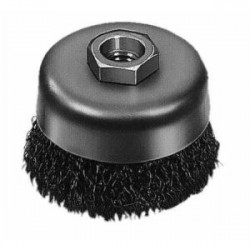 BRUSH CUP WIRE CRIMPED 4""