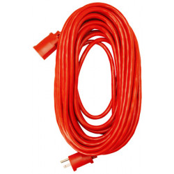 CORD EXT 100' RED 14G